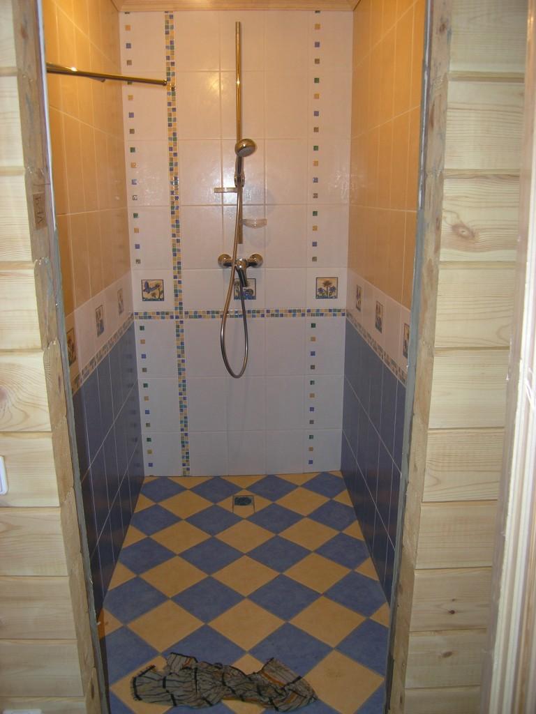 Душевая кабина своими руками в частном доме фото размеры