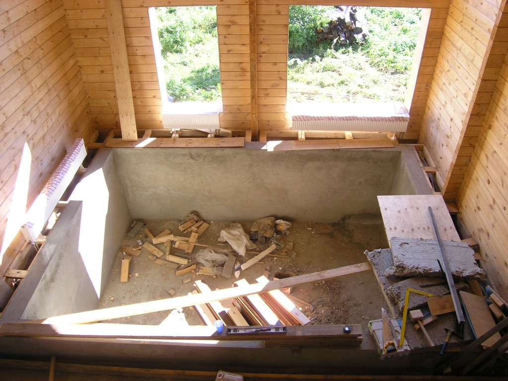 Как построить баню с бассейном своими руками 27