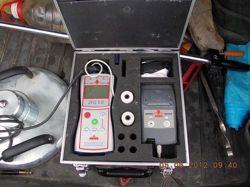 проверка уплотнения методом динамического зондирования