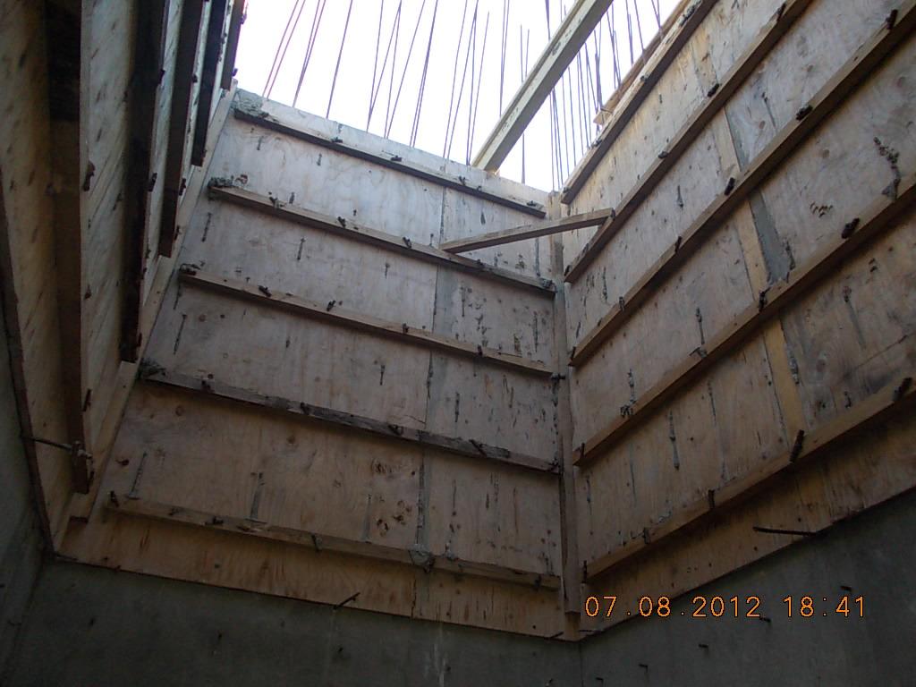 опалубка стен лифтовой шахты