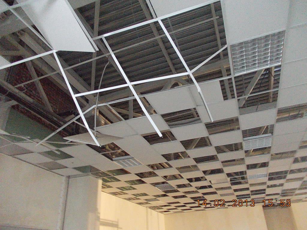 обрушение подвесного потолка
