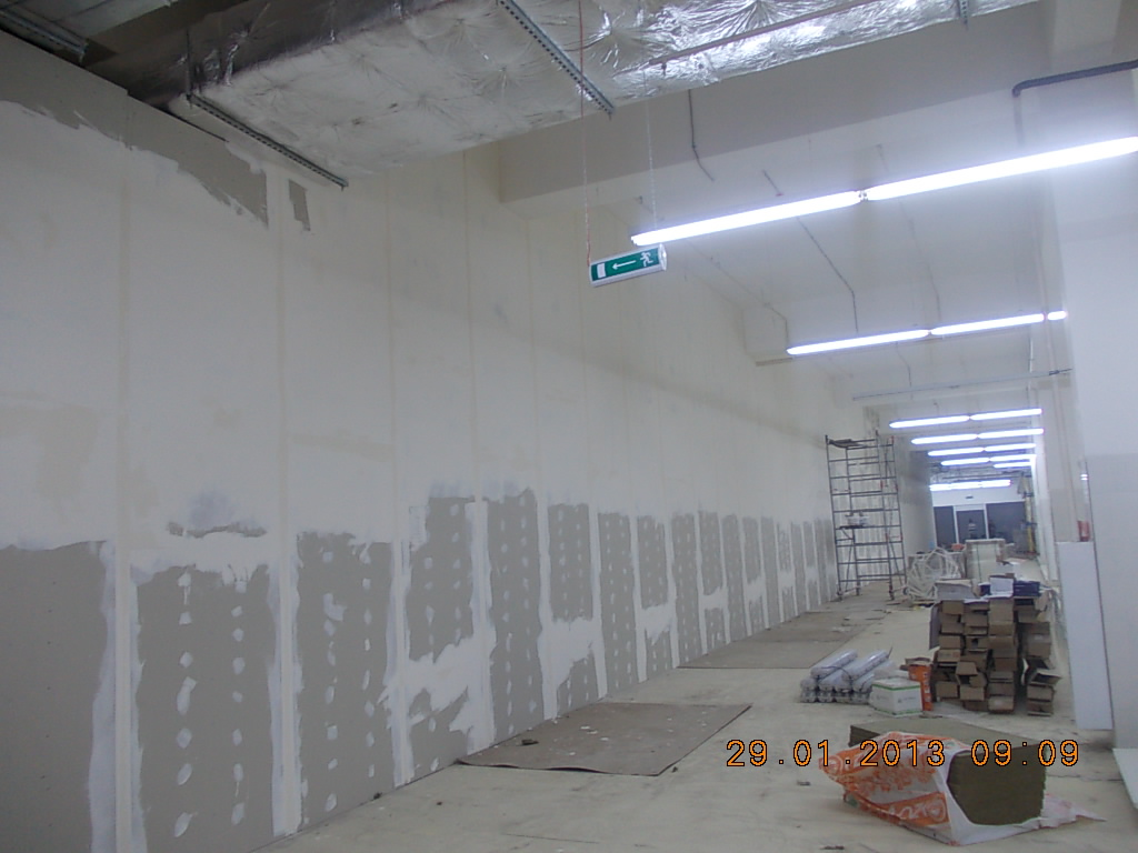 монтаж гипсокартона стен