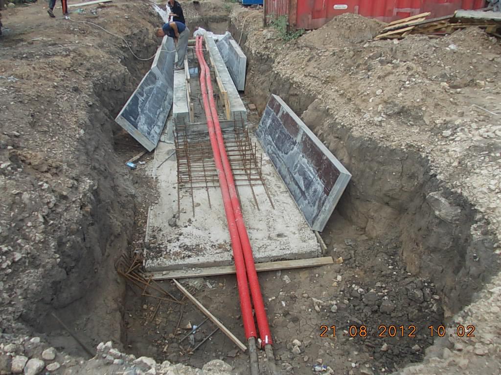 канал для защиты силового кабеля 10 кВ