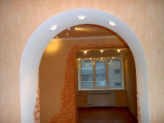 арки из гипсокартона фото межкомнатные