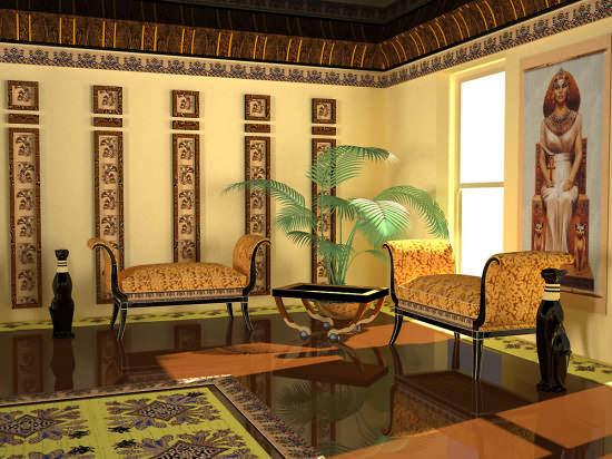 интерьер в египетском стиле фото