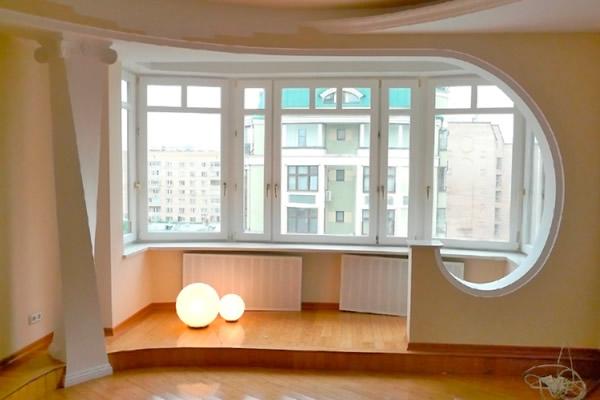 объединить балкон и комнату